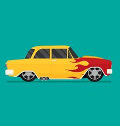 hotrod flat old school race car vector image