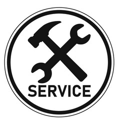 icon logo service center repair and customer vector image