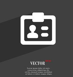 Id identity card icon symbol flat modern web vector