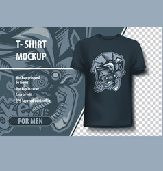 Joker skull t-shirt template vector