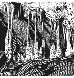 Karst cave stalactite stalagmite vector