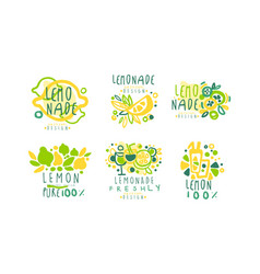 lemonade logo templates original design sweet vector image