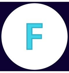 Letter F computer symbol vector