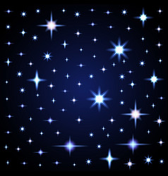 Light glare space stars of lens vector
