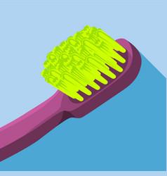 long body brush icon flat style vector image