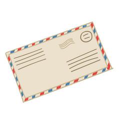 mail correspondence letter in vintage envelope vector image