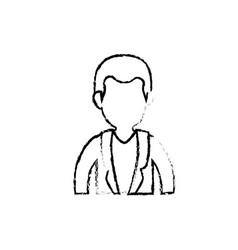 Male doctor profile vector