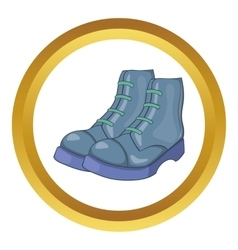 Mens boots icon vector