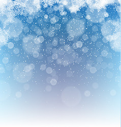 Merry Christmas Abstract Background Snowfall vector image