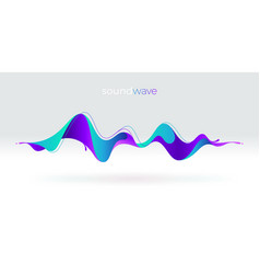 Multicolored abstract fluid sound wave vector