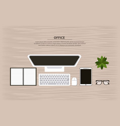 Office working process vector