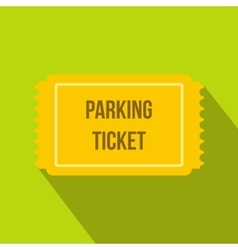 Parking ticket icon in flat style vector
