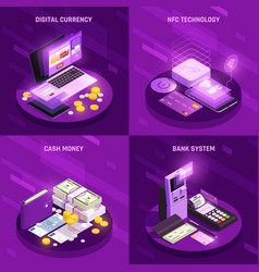 Payment methods isometric design concept vector