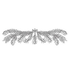 Pine cone border upper corners of this design to vector