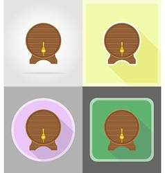 pirate flat icons 14 vector image