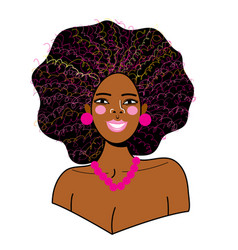 portrait a young beautiful african woman vector image