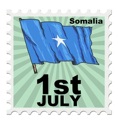 Post stamp of national day of Somalia vector