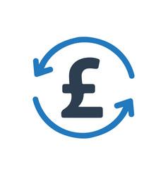Pound transaction icon vector