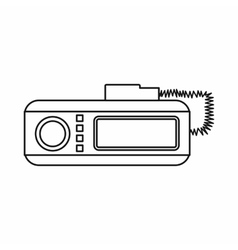 Radio taxi icon outline style vector