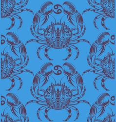 repaint seamless pattern crab vector image