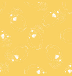 seamless pattern with quince vector image