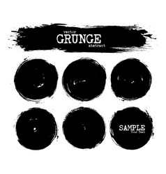 set abstract grunge circle shapes vector image