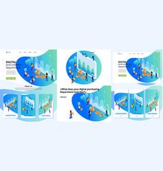 Set article digital procurement marketing research vector
