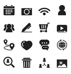 Social network icon set vector