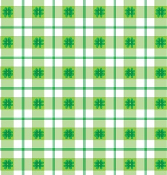st patricks day plaid vector image