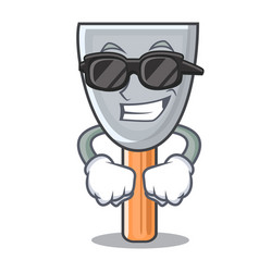 super cool character putty knife isolated vector image
