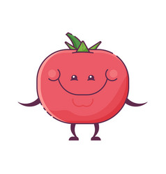 tomato vegetable character mascot vector image