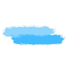 Two blue tint brushstroke paint vector