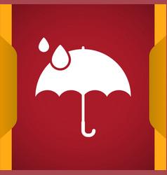 Umbrella icon for web and mobile vector