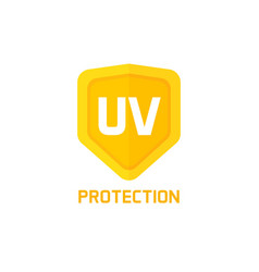 Uv protection shield icon sign isolated on vector