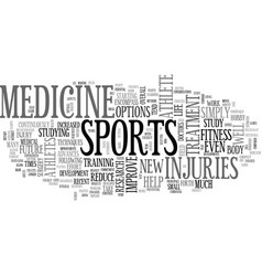 what future sports medicine holds text vector image