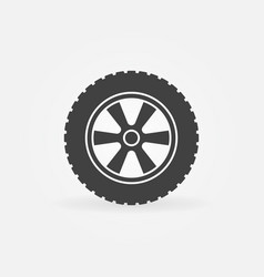 wheel icon - simple symbol vector image