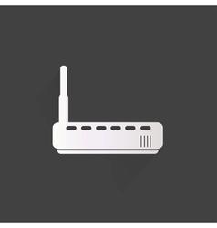 Wi fi router web icon vector