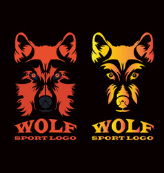 wolf sport logo vector image