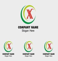X icon logo letter X vector image