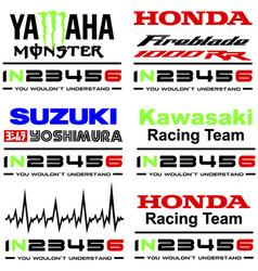 Yamaha honda suzuku kawasaki vector