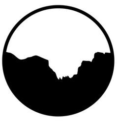 Yosemite valley vector