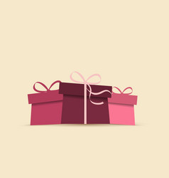background with presents vector image