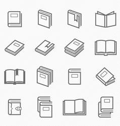 Book outline stroke symbol vector image vector image