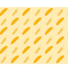 bread and wheat pattern vector image