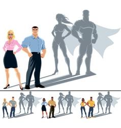 Couple Superhero Concept vector image vector image
