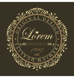 luxury round ornament vector image
