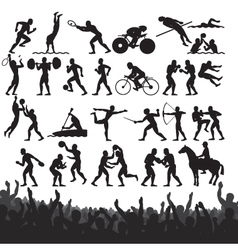 olympic sport silhouettes vector image