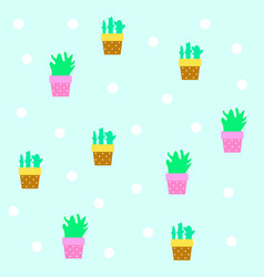 seamless tileable texture with cactus vector image vector image