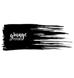 Black ink brush stroke isolated on white vector