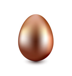 copper easter egg on a white background vector image vector image